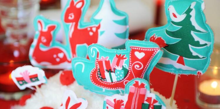 Un centre de table de Noël : les animaux de la forêt