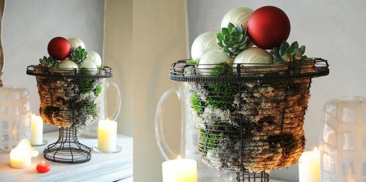 Centre de table de Noël : une coupe végétale