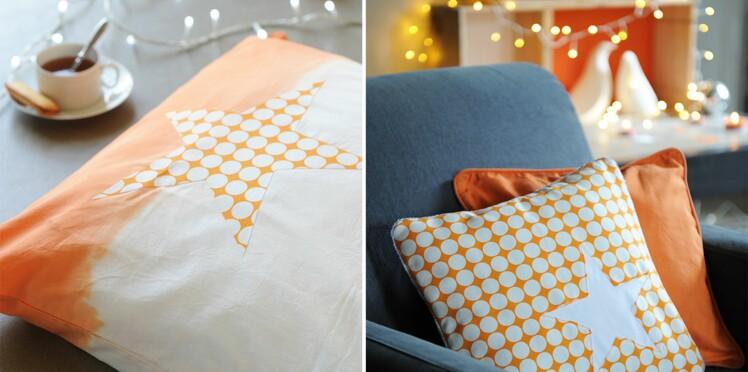 Couture : des coussins étoilés