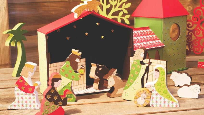 La crèche de Noël à fabriquer soi-même