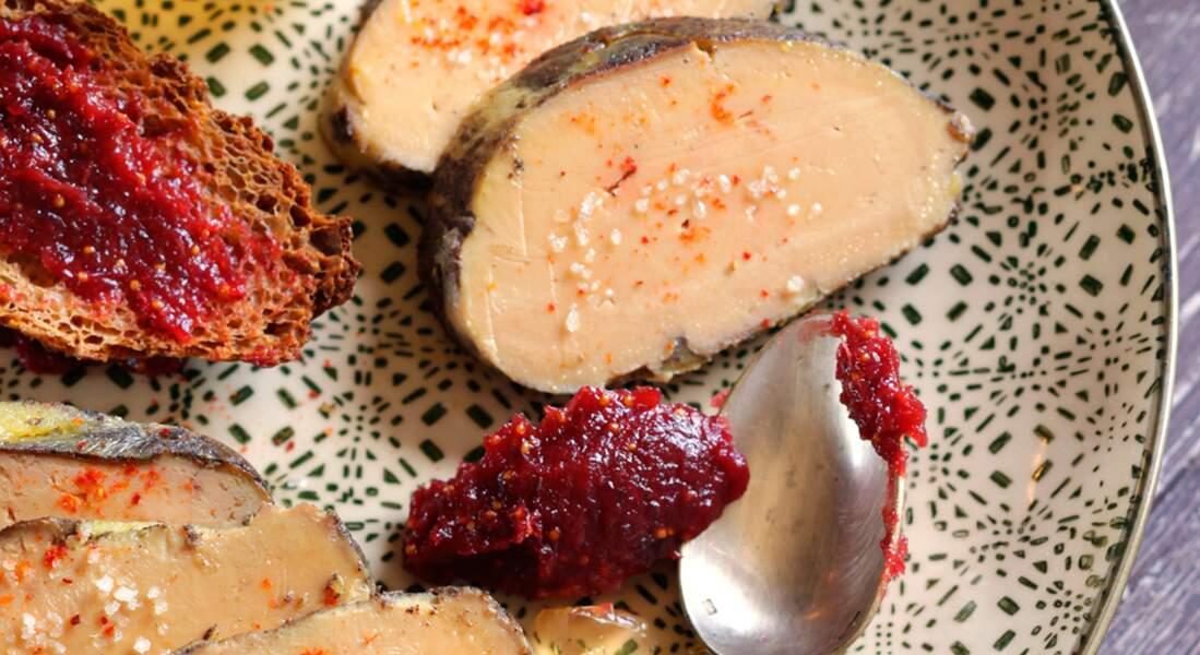 Foie gras de canard rôti aux épices