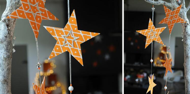 Décoration de Noël : une guirlande d'étoiles en papier