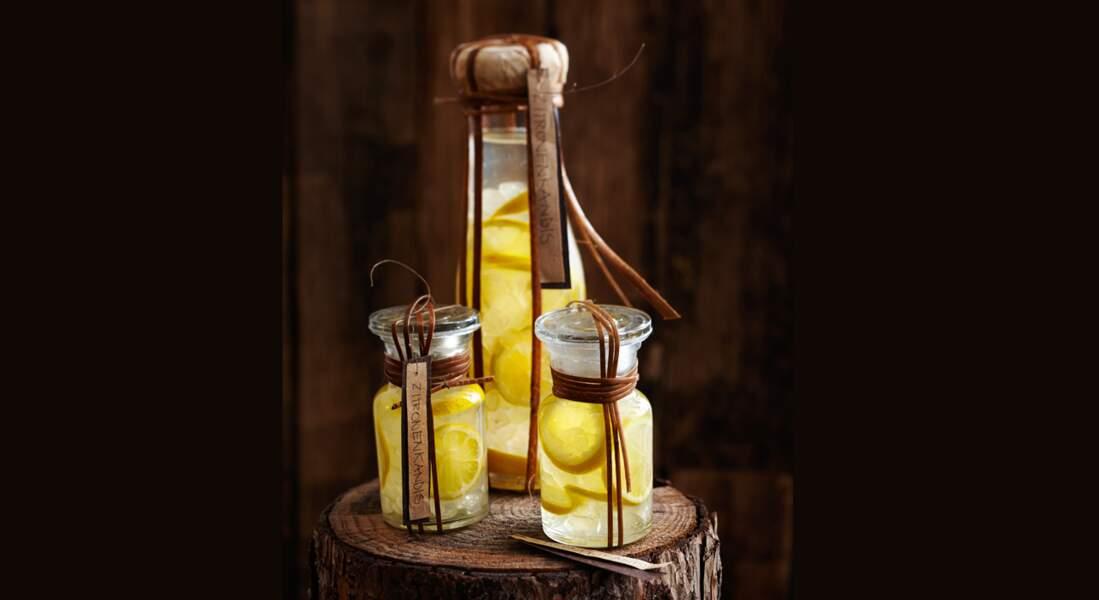 Liqueur de citron au sucre candi à offrir