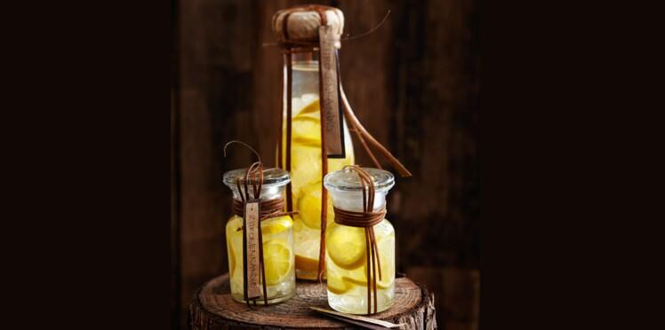Liqueur de citron au sucre candi
