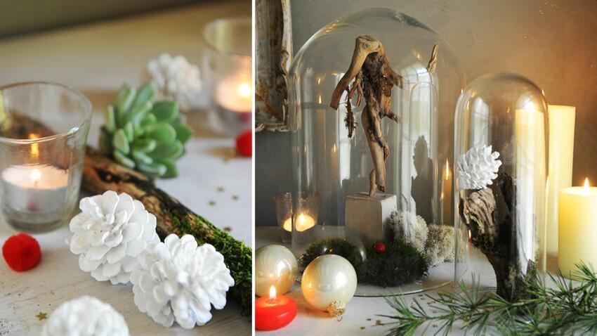 Décos de Noël : les pommes de pin peintes