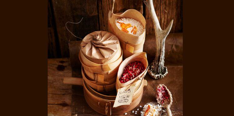 Kit pour riz au lait à la mangue, coco et framboises