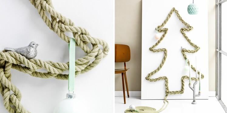 Un sapin de Noël en corde