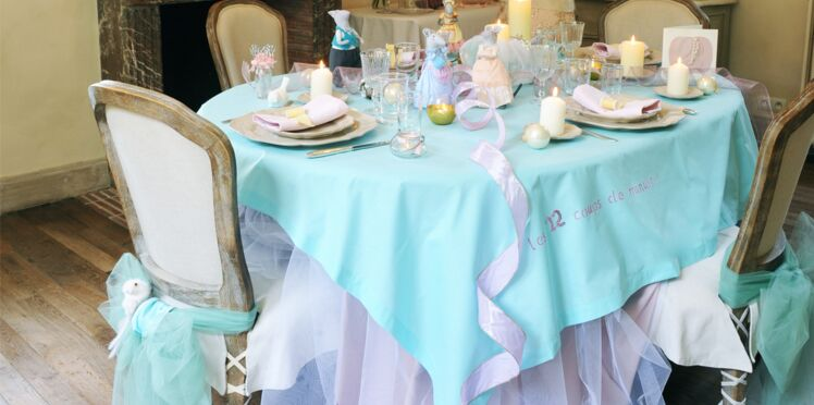 Une décoration de table Cendrillon