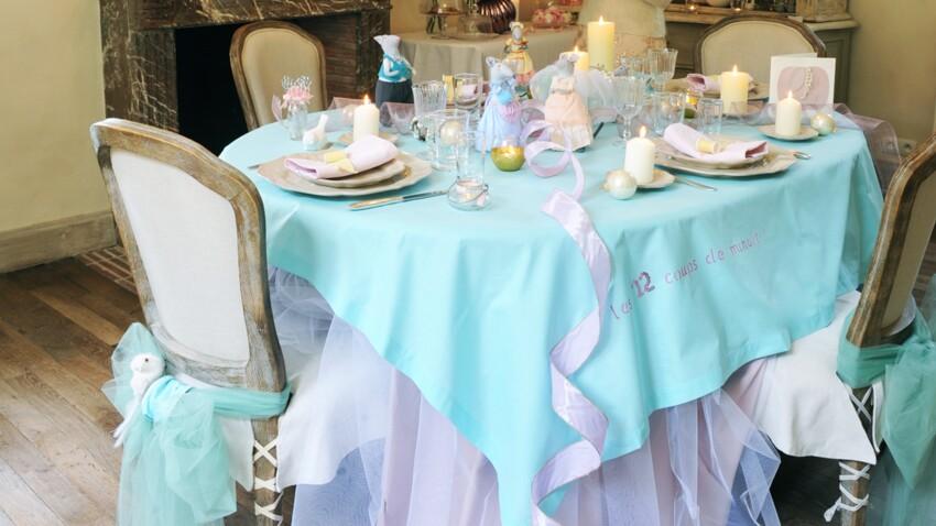 Une décoration de table Cendrillon