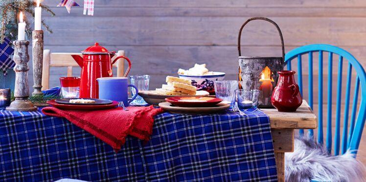 Une décoration de table écossaise
