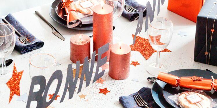 Décoration de table de fête pour le Nouvel An