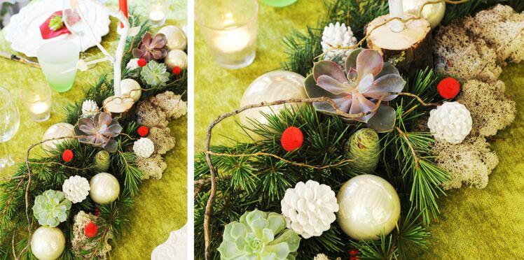 Un centre de table végétal pour ma table de Noël