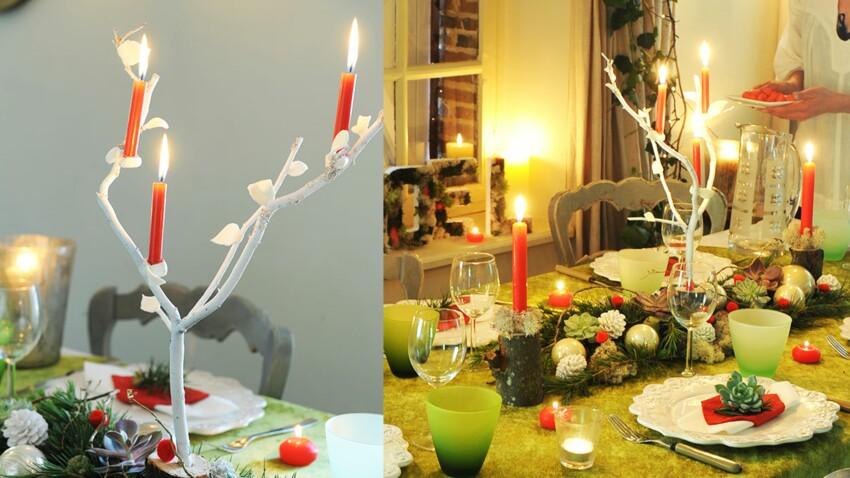 Bougies de Noël : un chandelier végétal