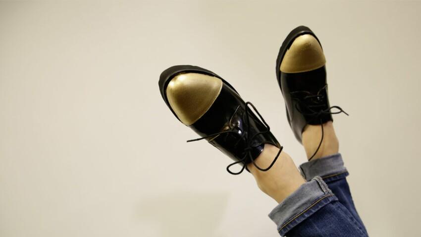 Une touche de doré à mes pieds
