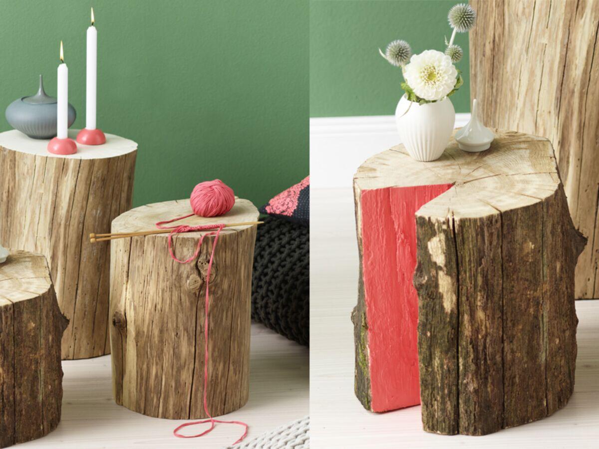 Rondin De Bois Table De Chevet déco en bois : des chevets à base de rondins : femme