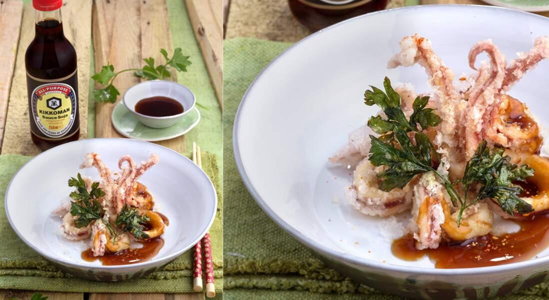 Calamars frits à la sauce sucrée