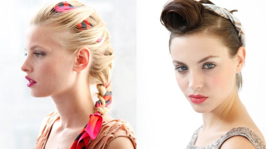 2 façons de porter le foulard couture