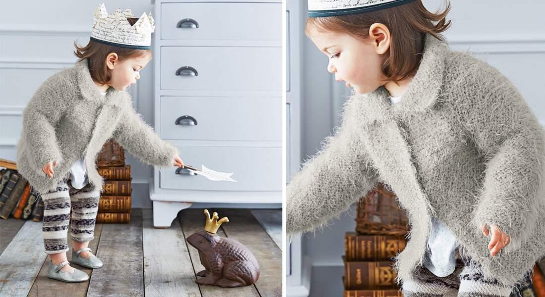 La veste doudou à tricoter