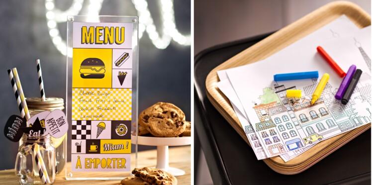 Déco de table : un menu et un set à colorier