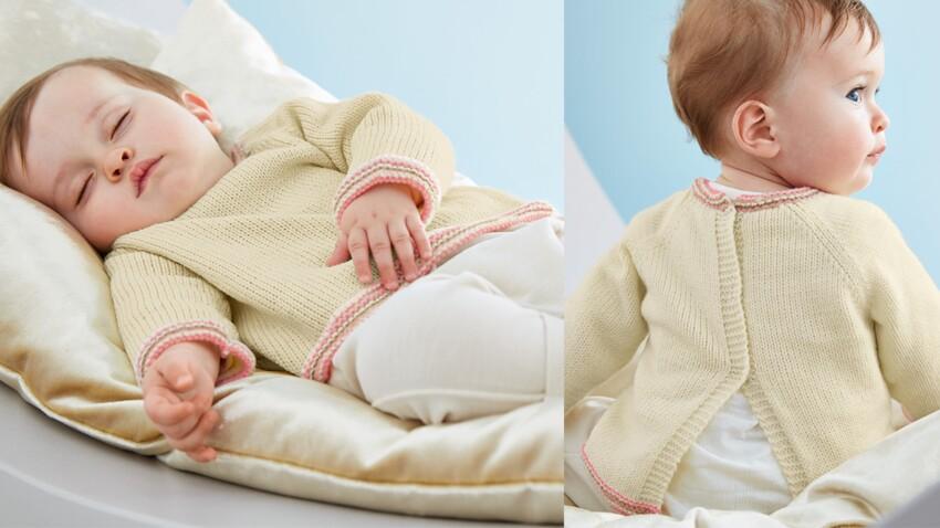 La brassiere en jersey et point mousse boutonnage dos