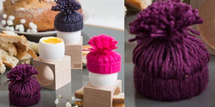 Déco de table en laine : des pompons originaux