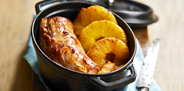 Filet mignon de porc à l'ananas