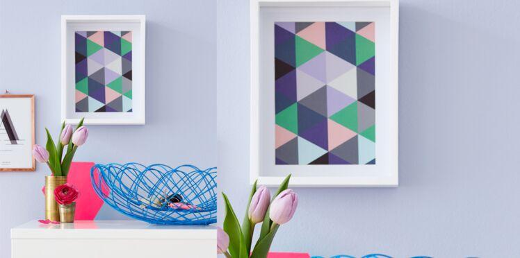 Déco murale : un cadre kaléidoscope à colorier