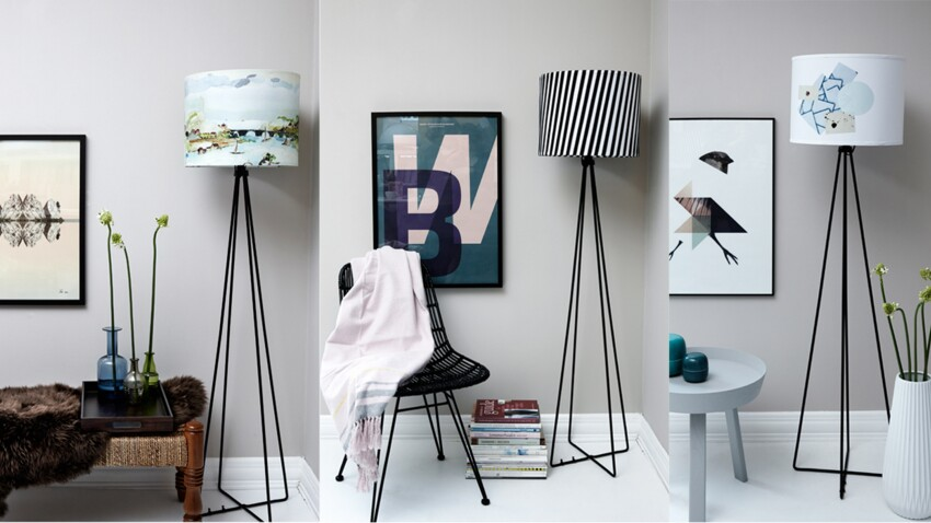 Un lampadaire en 3 versions
