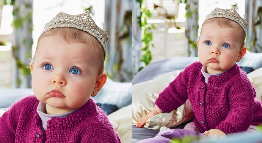 Une couronne au crochet pour bébé