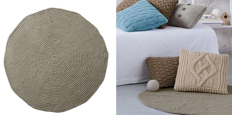 Le tapis rond au crochet facile