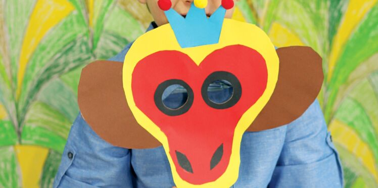 Mardi gras : un masque singe en papier pour le carnaval