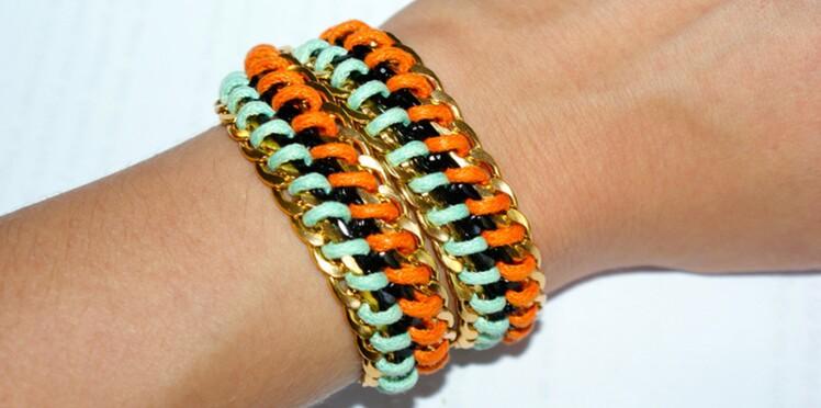Tuto bracelet : un bracelet wrap à faire soi même