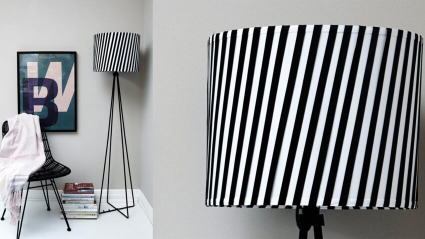 DIY : un abat-jour tendance en noir et blanc
