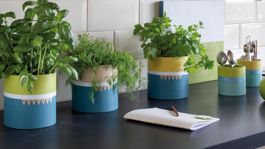 Des pots à plantes aromatiques originaux pour ma cuisine