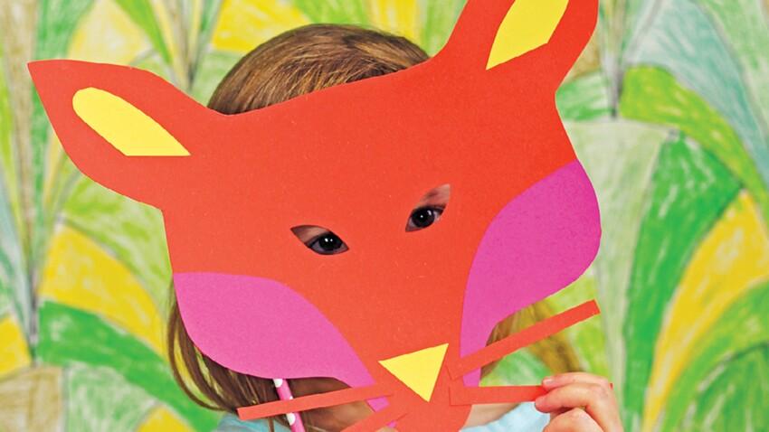 Mardi gras : un masque renard en papier pour le carnaval
