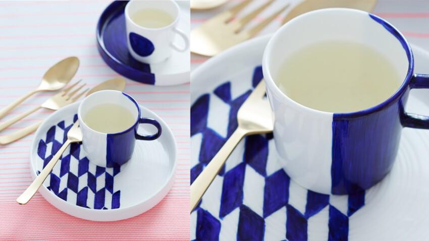 Customiser sa vaisselle au feutre pour porcelaine