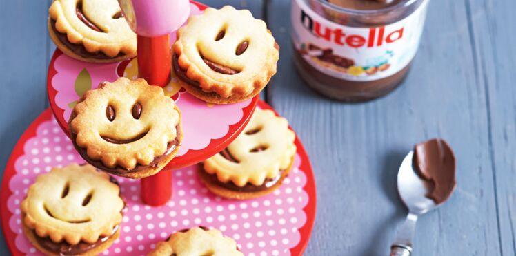 Biscuits Smileys au Nutella