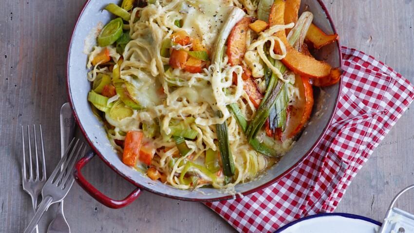 Gratin de spaetzle aux légumes