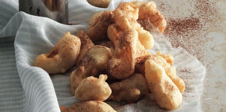 Tempura de poire au pain d'épices