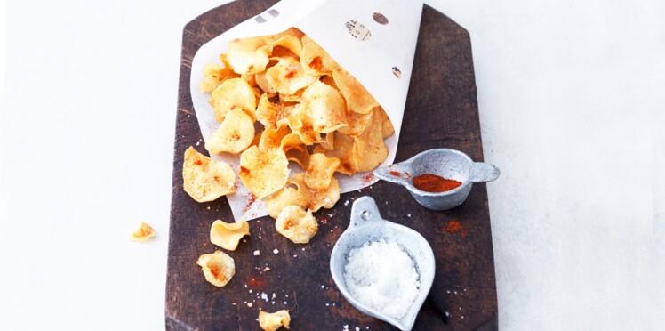 Chips de topinambours au paprika