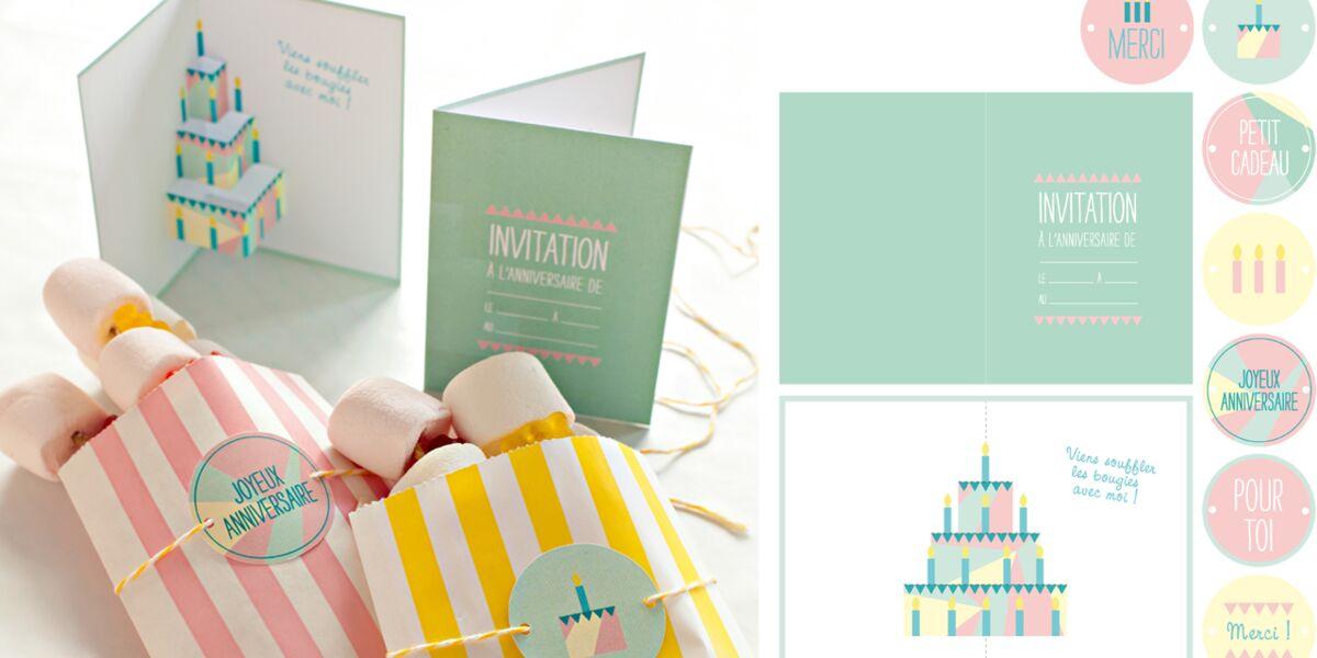 Carte D Anniversaire Des Etiquettes Gratuites A Imprimer Femme Actuelle Le Mag