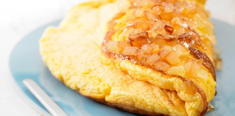 Omelette souflée aux pommes