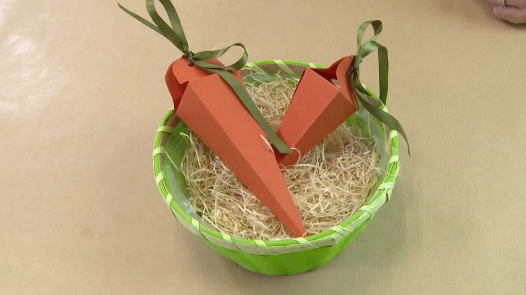 Une boite carotte pour Pâques