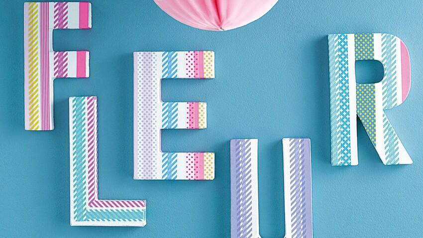 Déco facile : des lettres pour habiller mes murs
