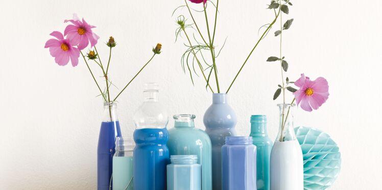 Peinture sur verre : des vases design et pas cher
