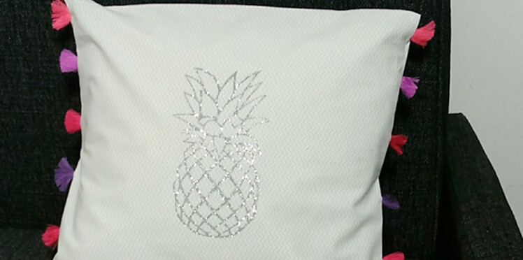 Couture facile : un coussin ananas