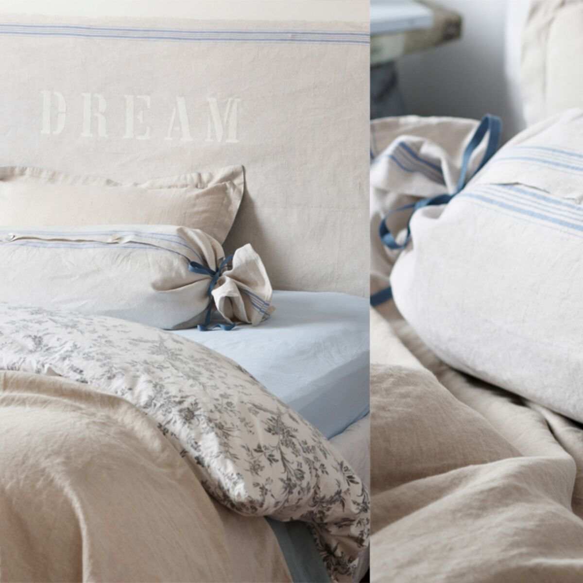 Tete De Lit Avec Coussin Comment Faire une tête de lit et un coussin en lin : femme actuelle le mag