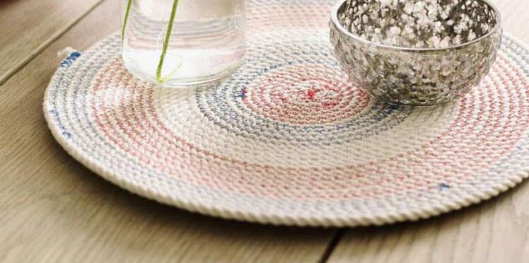 Couture facile : un dessous-de plat en corde