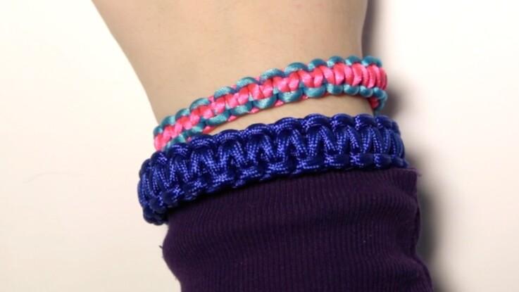 Weavy Loops : comment faire un bracelet d'amitié bicolore
