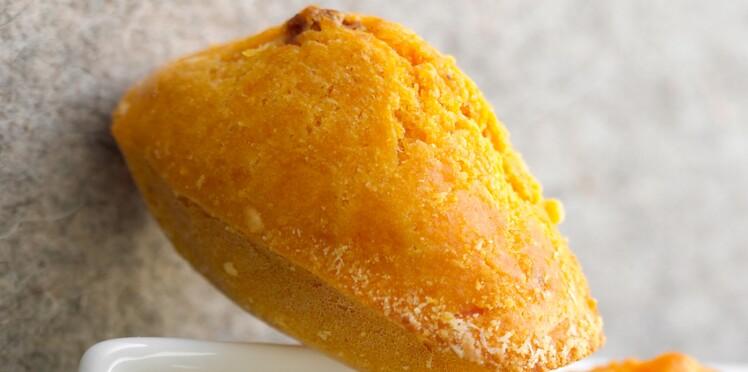 Madeleines citron-safran